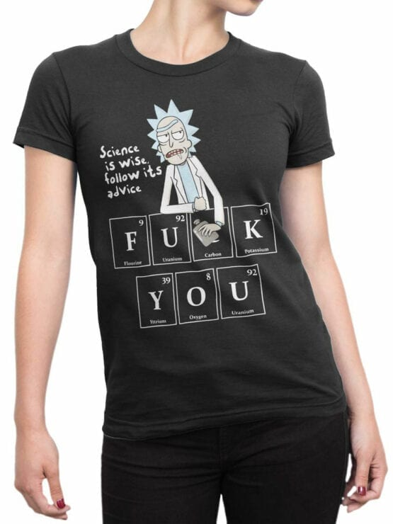 1243 Rick and Morty T Shirt FckYou Front Woman