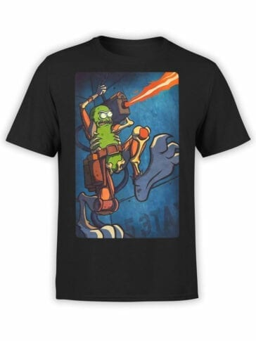 1246 Rick and Morty T Shirt Cool Pickle Front