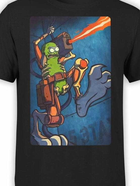 1246 Rick and Morty T Shirt Cool Pickle Front Color