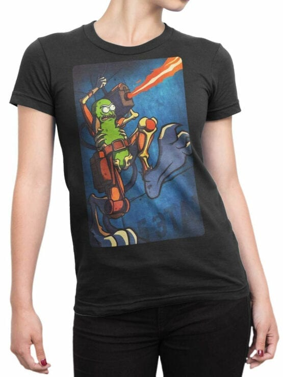 1246 Rick and Morty T Shirt Cool Pickle Front Woman