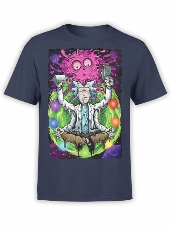 1248 Rick and Morty T Shirt Meditation Front