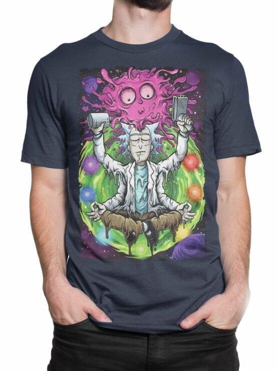 1248 Rick and Morty T Shirt Meditation Front Man 2