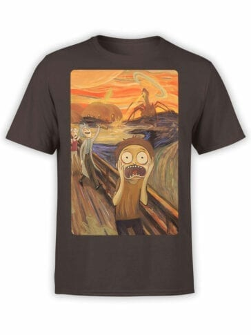 1249 Rick and Morty T Shirt Fear Front