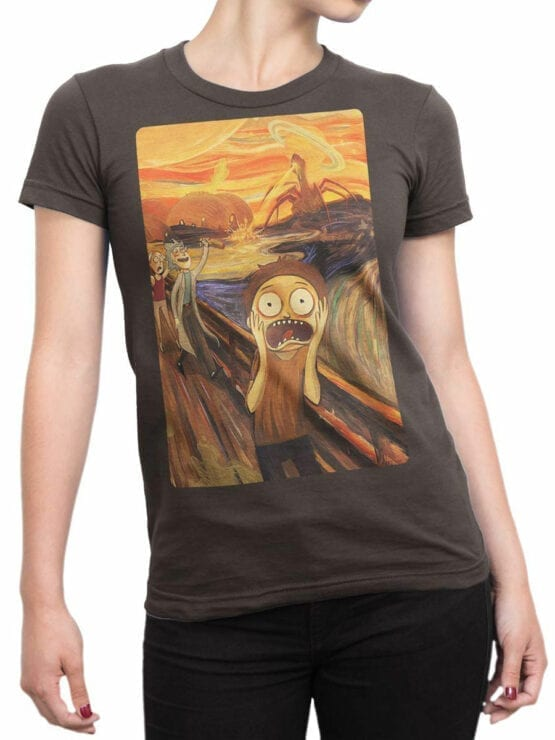 1249 Rick and Morty T Shirt Fear Front Woman