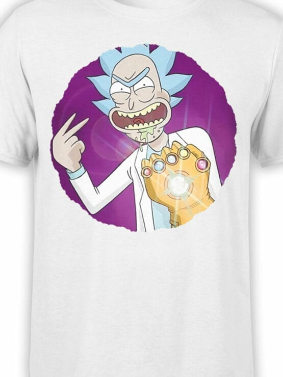 1250 Rick and Morty T Shirt Thanos Front Color