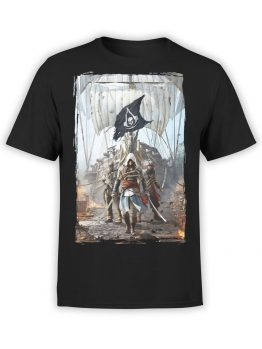1254 Assassin's Creed T Shirt Pirates Front