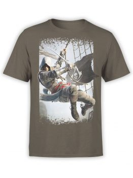 1259 Assassin's Creed T Shirt Boarding Front