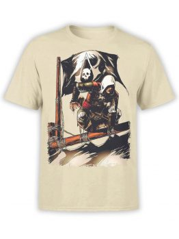 1260 Assassin's Creed T Shirt Pirates Front