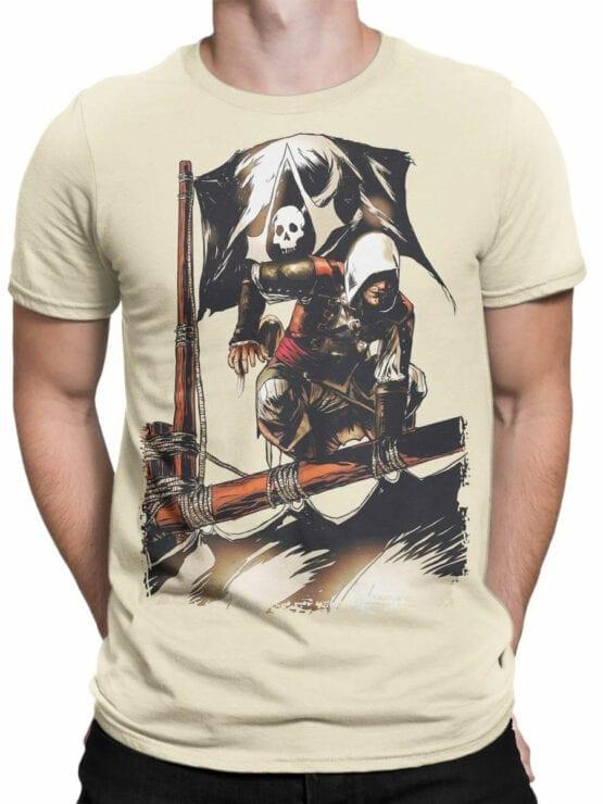 1260 Assassin's Creed T Shirt Pirates Front Man