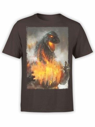 1269 Godzilla T Shirt Fire Front