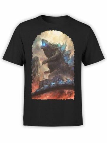 1272 Godzilla T Shirt City Front