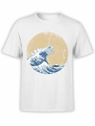 1275 Godzilla T Shirt Waves Front