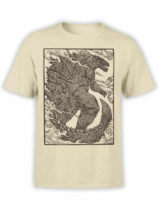 1282 Godzilla T Shirt Engraving Front