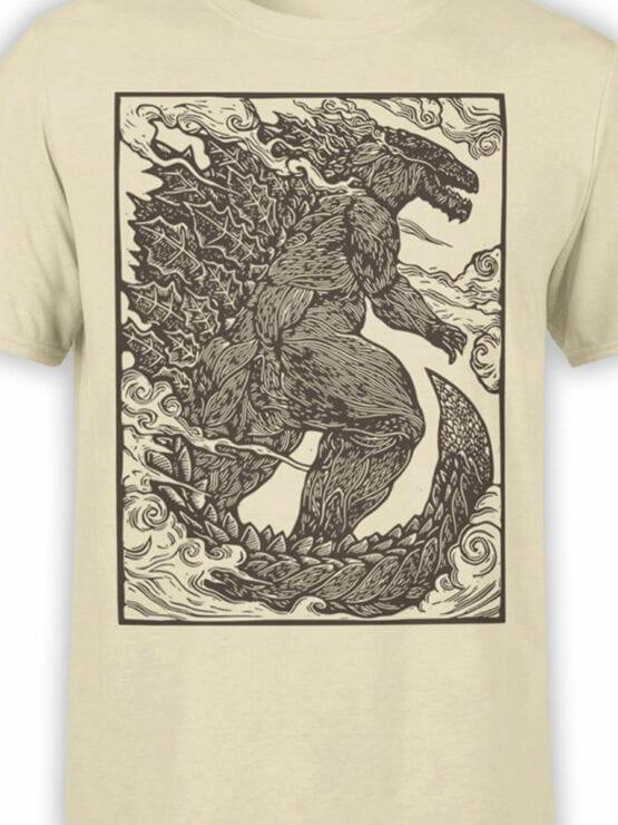 1282 Godzilla T Shirt Engraving Front Color