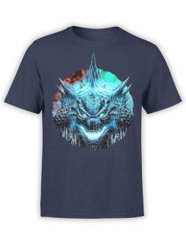 1283 Godzilla T Shirt Horror Front