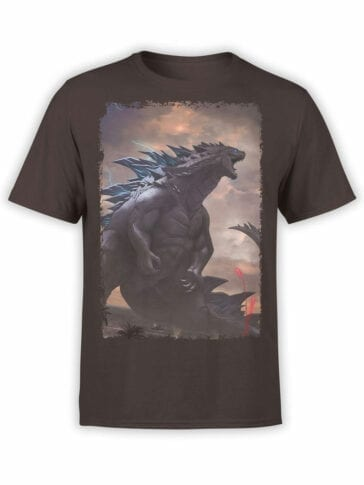 1284 Godzilla T Shirt Monster Front