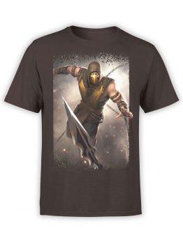1285 Mortal Kombat T Shirt Scorpion Jump Front