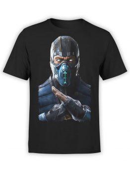 1286 Mortal Kombat T Shirt SubZero Front