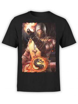 1294 Mortal Kombat T Shirt Fireball Front