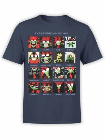 1297 Samurai Jack T Shirt Expressions Front