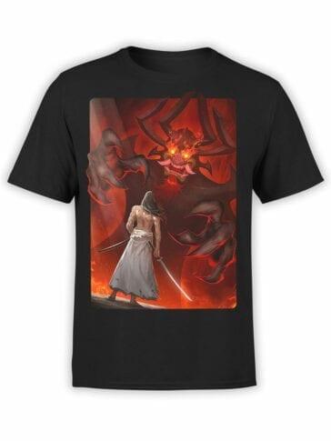 1298 Samurai Jack T Shirt Aku Demon Front