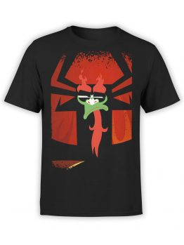 1302 Samurai Jack T Shirt Contempt Front