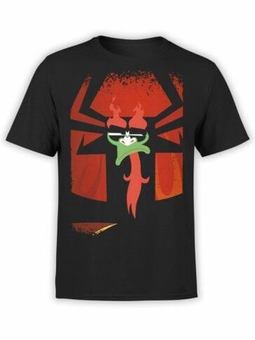 1302 Samurai Jack T Shirt Contempt Front