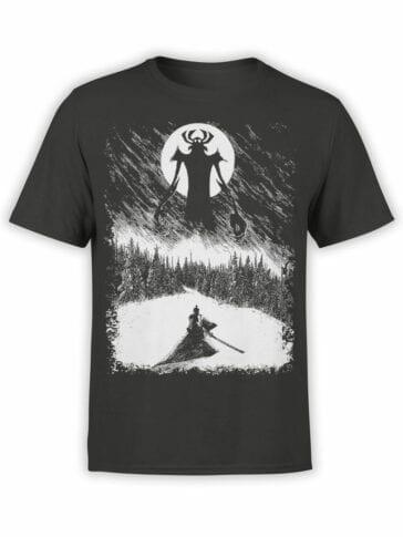 1303 Samurai Jack T Shirt Engraving Front