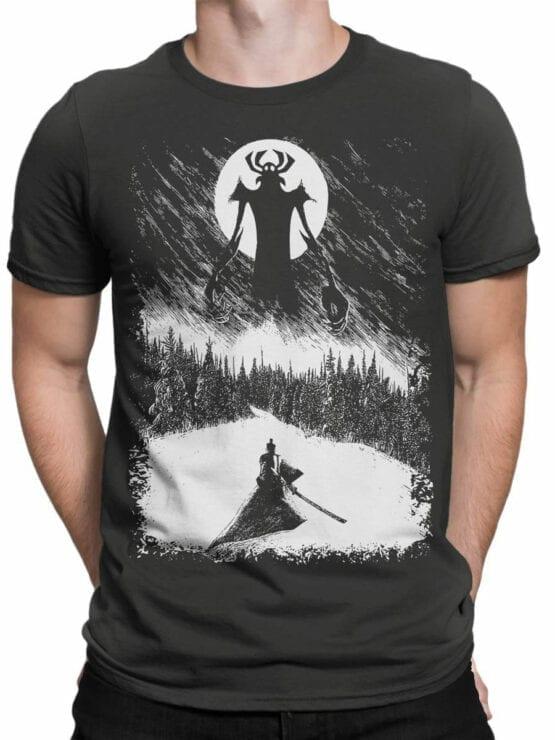 1303 Samurai Jack T Shirt Engraving Front Man