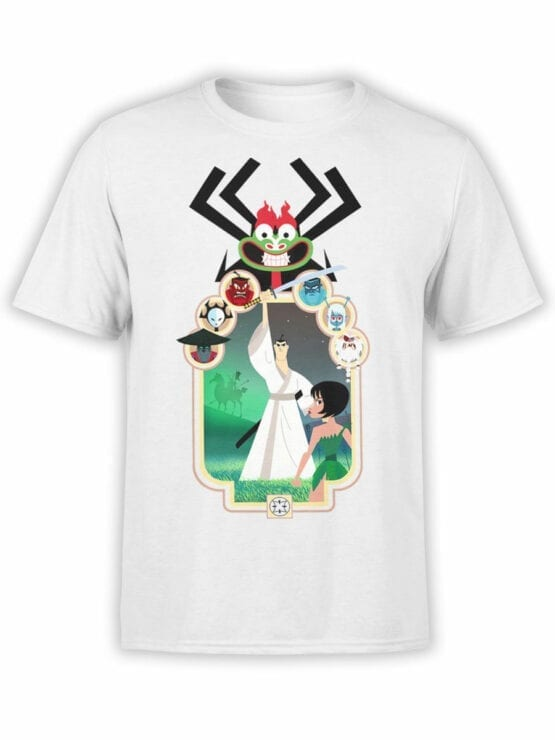 1304 Samurai Jack T Shirt Characters Front