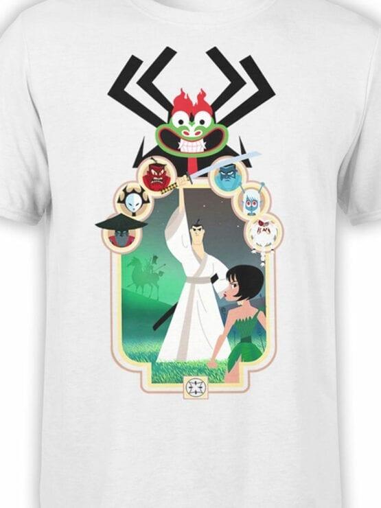 1304 Samurai Jack T Shirt Characters Front Color