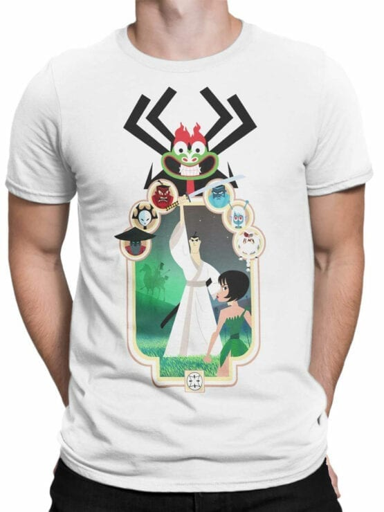 1304 Samurai Jack T Shirt Characters Front Man