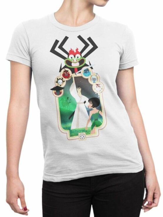 1304 Samurai Jack T Shirt Characters Front Woman