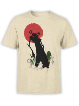 1305 Samurai Jack T Shirt Silhouette Front