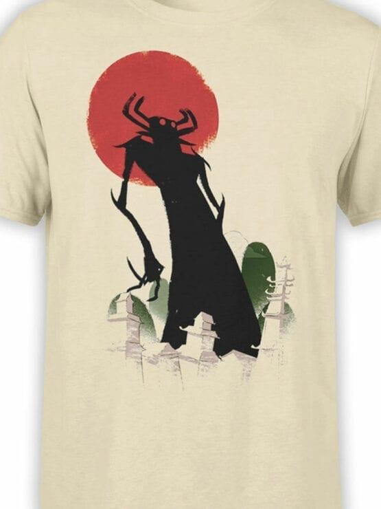 1305 Samurai Jack T Shirt Silhouette Front Color