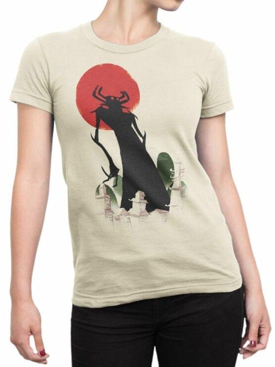1305 Samurai Jack T Shirt Silhouette Front Woman