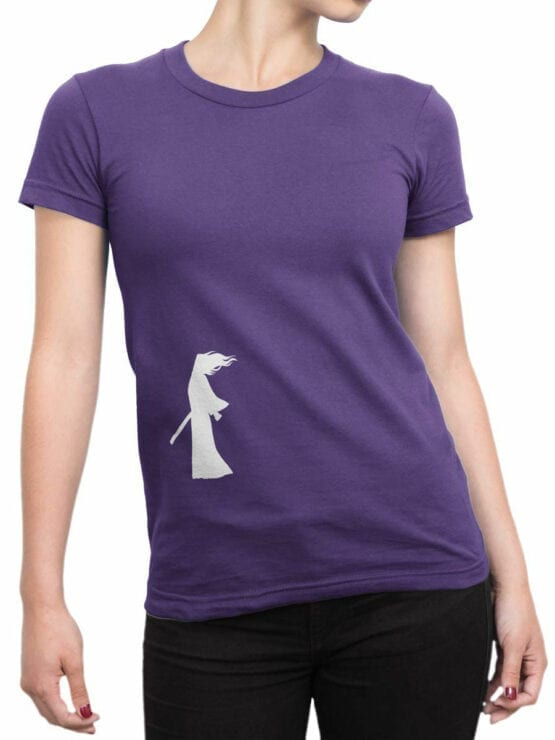 1310 Samurai Jack T Shirt Wind Front Woman