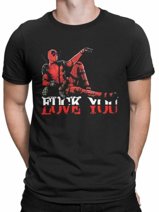 1314 Deadpool T Shirt Love You Front Man