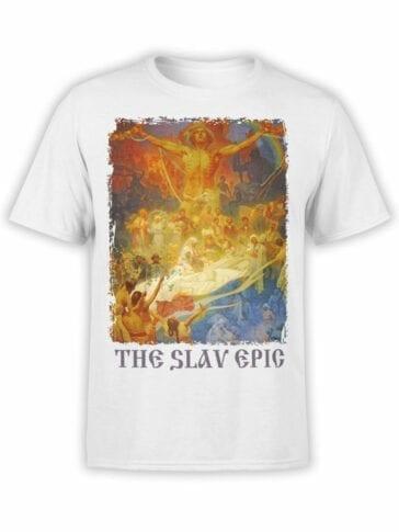 1321 Alphonse Mucha T Shirt The Slav Epic Front