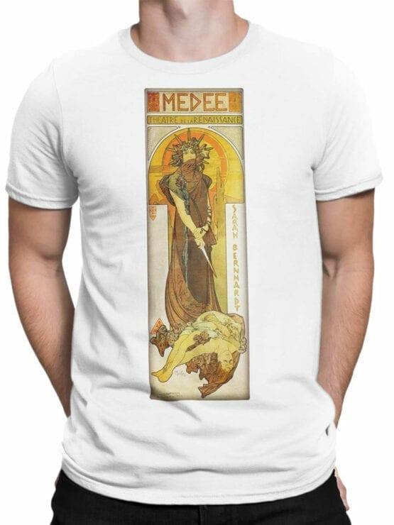 1323 Alphonse Mucha T Shirt Medee Front Man