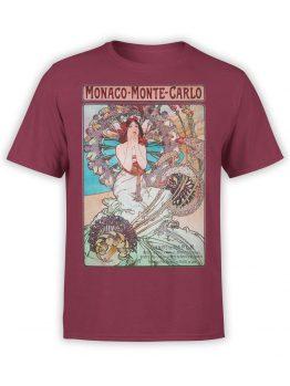 1324 Alphonse Mucha T Shirt Monaco Monte Carlo Front