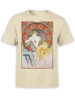 1325 Alphonse Mucha T Shirt La femme au coquelicots Front