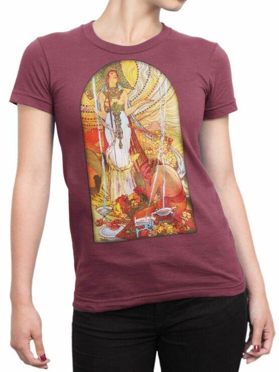1326 Alphonse Mucha T Shirt Salammbo Front Woman