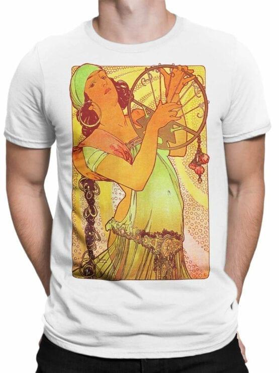 1327 Alphonse Mucha T Shirt Salome Front Man
