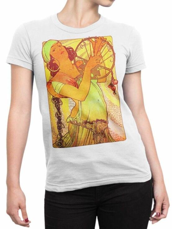 1327 Alphonse Mucha T Shirt Salome Front Woman