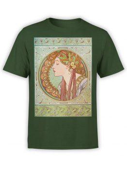 1328 Alphonse Mucha T Shirt Laurel Front