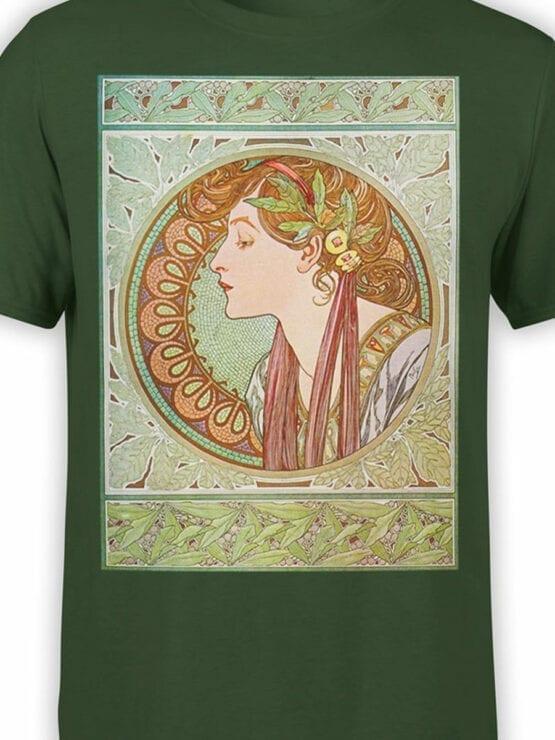 1328 Alphonse Mucha T Shirt Laurel Front Color