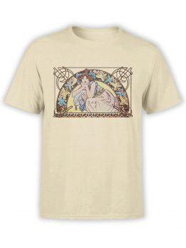 1329 Alphonse Mucha T Shirt Beltane Front