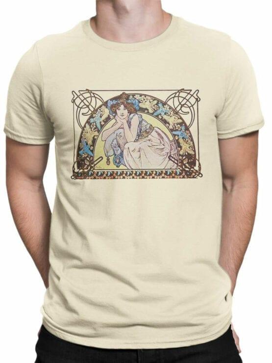 1329 Alphonse Mucha T Shirt Beltane Front Man