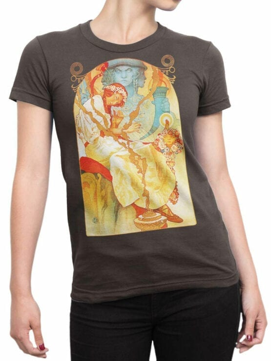 1330 Alphonse Mucha T Shirt Slav Epic Front Woman